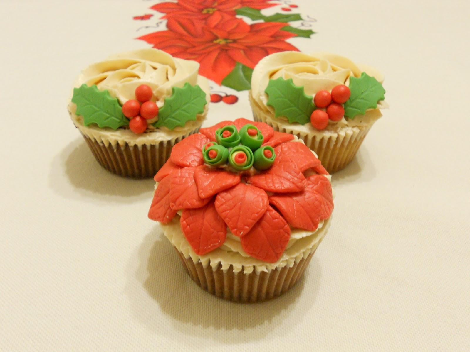 La Flor De Pascua Prometida Y Otros Cupcakes Navidenos Dulces