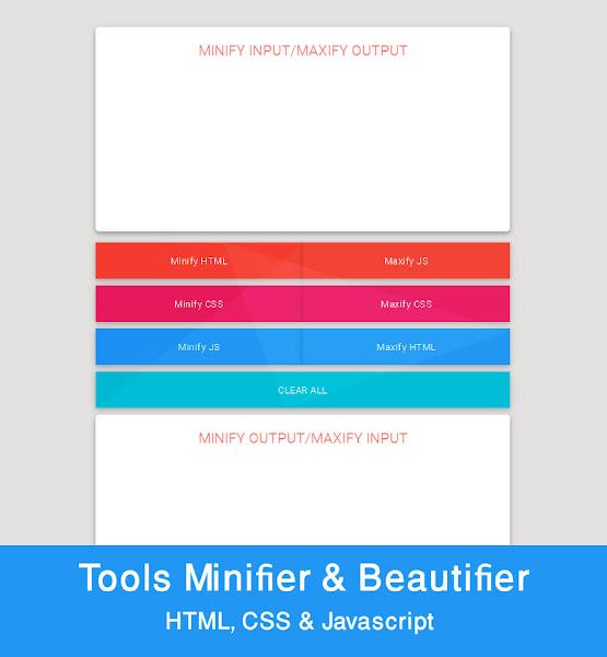 HTML, CSS, Javascript Compressor Dan Beautifier