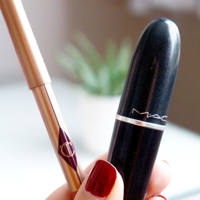 Charlotte Tilbury lip cheat in pillos talk Mac Lipstick Finaly Free