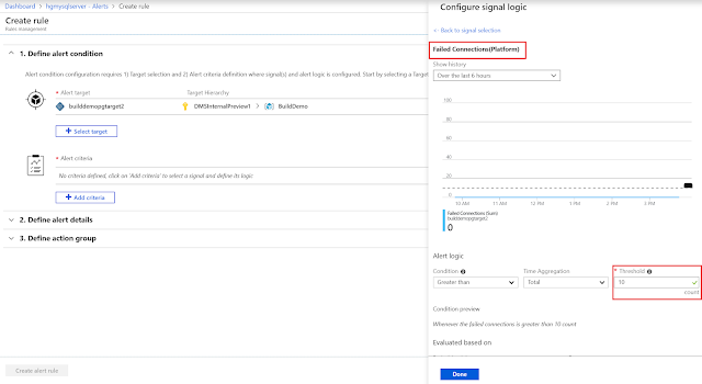Best practices for alerting on metrics with Azure Database