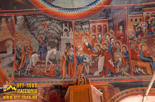 Fresco painting - St. Petka church in Skochivir village, Municipality of Novaci