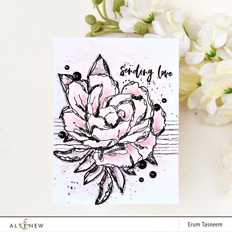 Altenew Inked Flora Stamp Set | Erum Tasneem | @pr0digy0