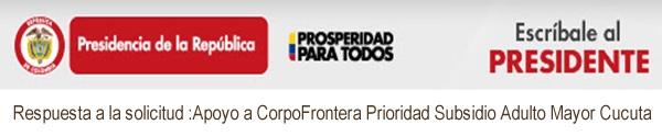 Seguimiento a petición de CORPOFRONTERA al Presidente de Colombia, Juan Manuel Santos Calderón #OngCF #RSY