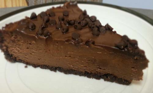 Chocolate Chips on Chocolate Cheesecake
