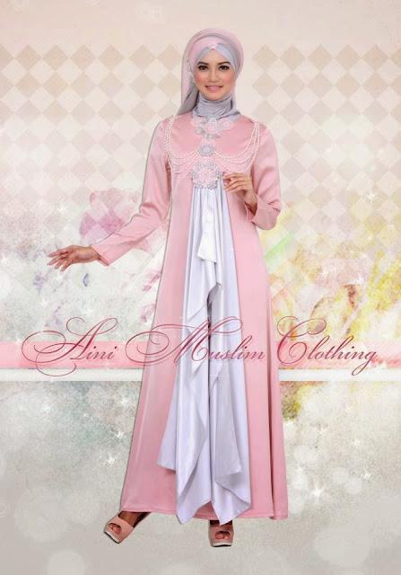 Contoh Baju Muslim Gamis Pesta