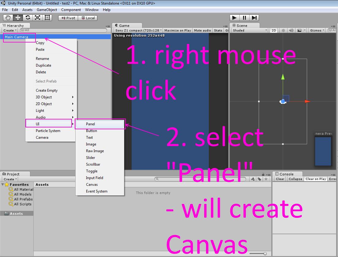 codingtrabla: Unity3D canvas config for HD resolution ( 2D games )