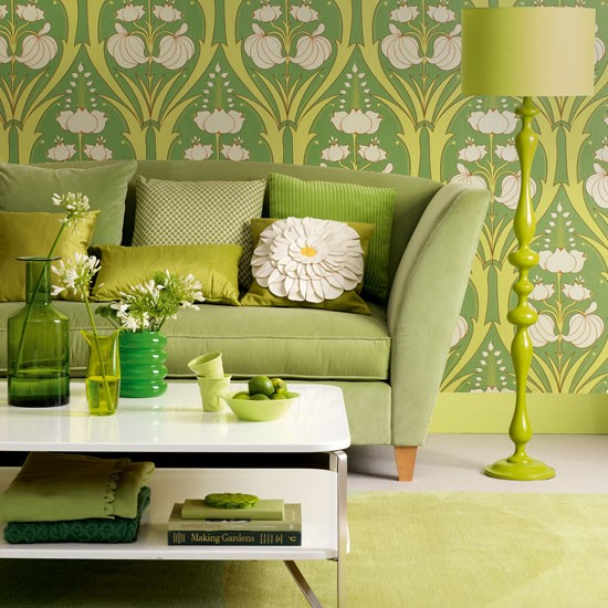 Modern Furniture: Decorating Living Room With Mint Green