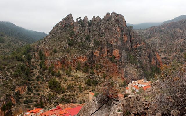 Vistas desde el castillo de Yedra en Ayna