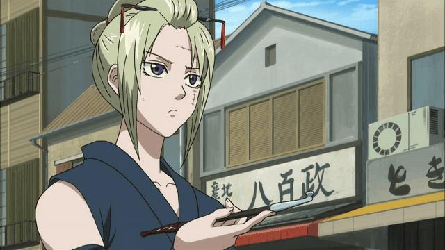 tsukuyo adalah bodyguard cewek yang kuat di anime gintama