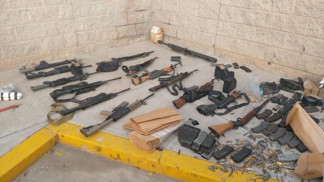 GUARDIA NACIONAL DETIENE A SEIS PERSONAS Y ASEGURA 14 ARMAS LARGAS Y MÁS DE CINCO MIL CARTUCHOS