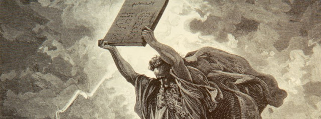 Moses with the Tablets of the Law - has founded a biblical figure America closeup?