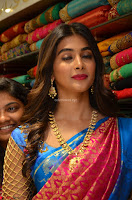 Puja Hegde looks stunning in Red saree at launch of Anutex shopping mall ~ Celebrities Galleries 046.JPG