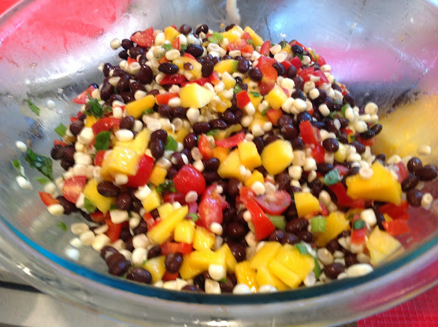 black beans and corn salsa with pineapple