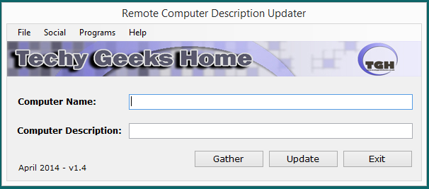 Remote Computer Description Updater v1.4 Released 1