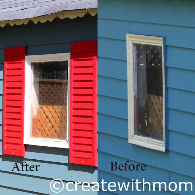 repurposing window shutters
