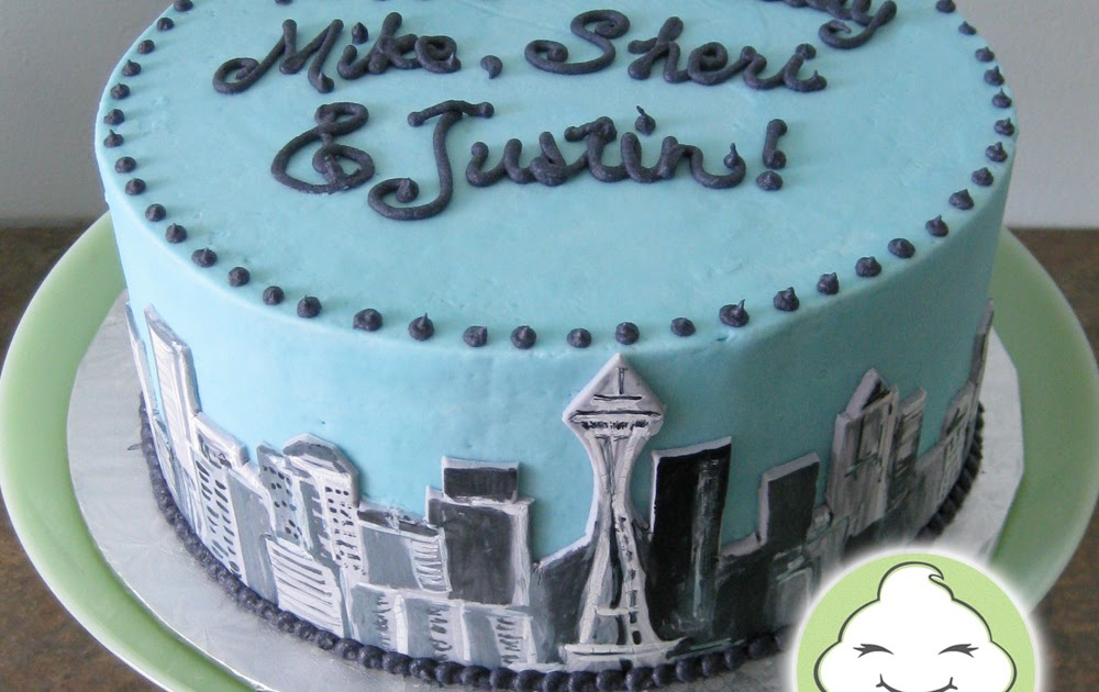 Stuffed Cakes Seattle Skyline Cake