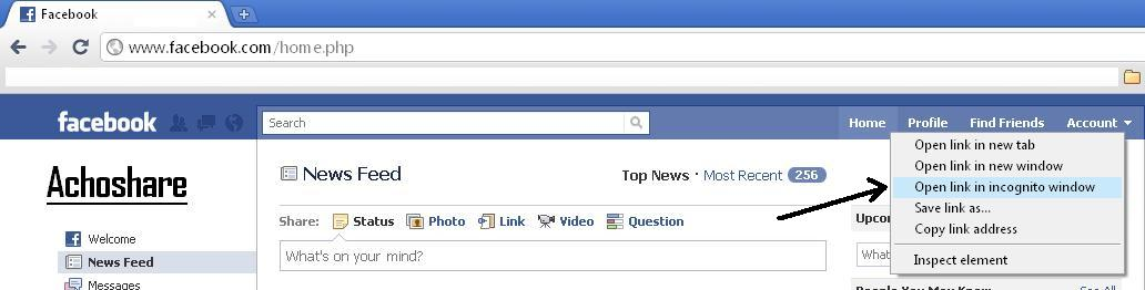 Achoshare: Open Two Facebook Account in google Chrome Browser