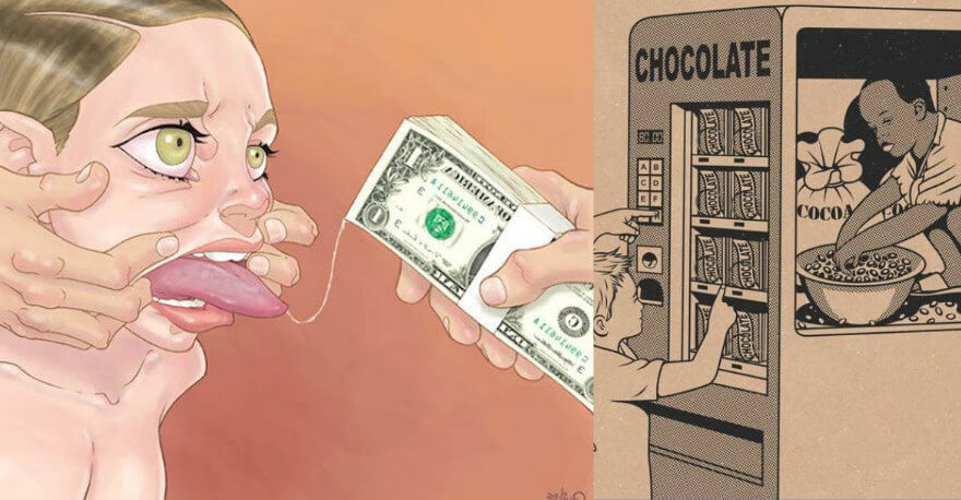 18 Thought-Provoking Illustrations That Tell The Brutal Truth About The World We Live In