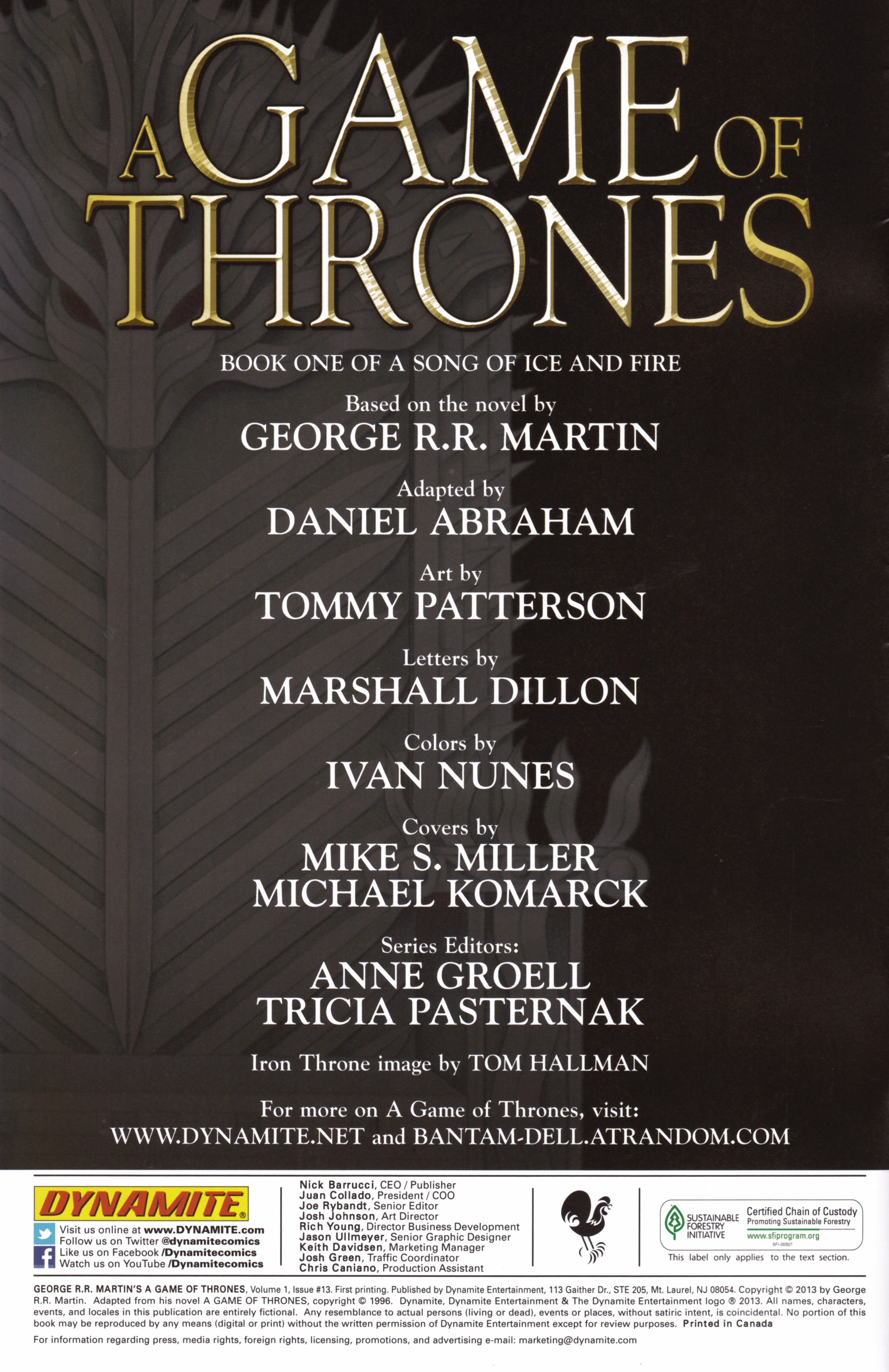 Read online A Game Of Thrones comic -  Issue #13 - 2