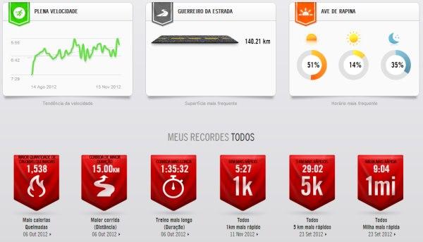 7e2fa9600b3 ... acompanhar a quilometragem percorrida por seus diferentes tênis de  corrida. Após cada exercício opcionalmente você pode fornecer estes dados.