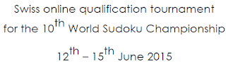 Swiss Sudoku Qualifiers 2015