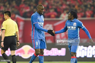 obafemi martins finally scores his first goal for new chinese club  Shanghai Shenhua