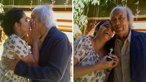 Aos 77 anos, Erasmo Carlos se casa no civil com pedagoga de 28 anos