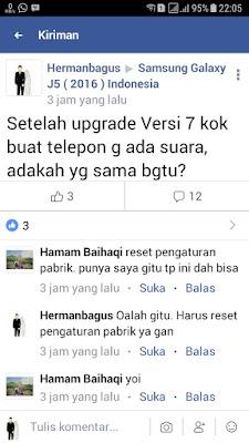 Update Samsung Galaxy J5 (2016) Nougat 7.1.1 hermanbagus