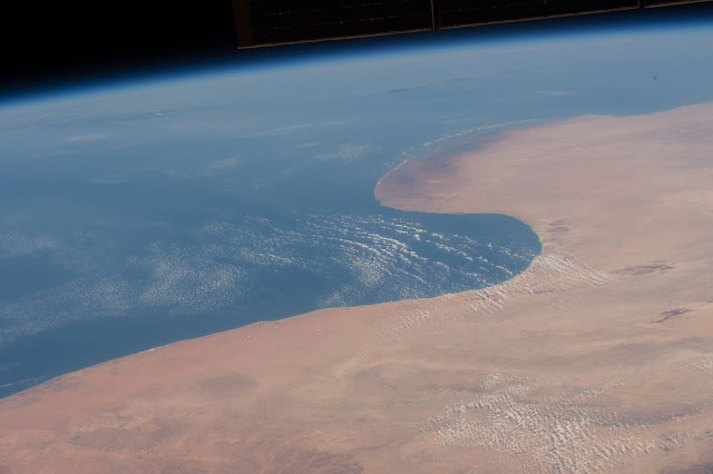 Sahara Desert and Mediterranean Sea seen from the International Space Station