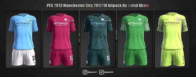 Manchester City 2017-18 Kit PES 2013