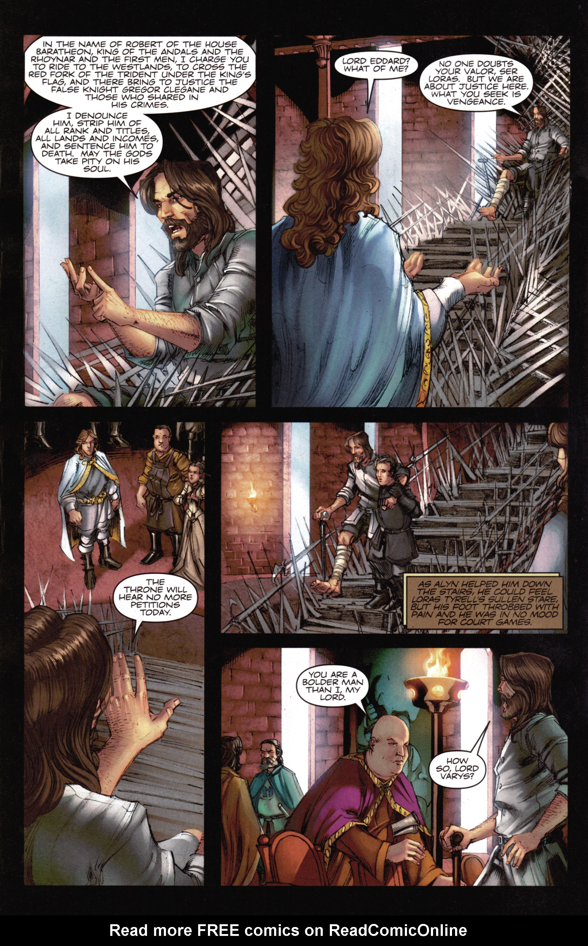 Read online A Game Of Thrones comic -  Issue #14 - 8