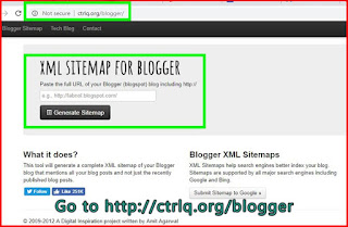 How to generate blogger sitemap