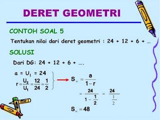 Rumus Barisan dan Deret Geometri