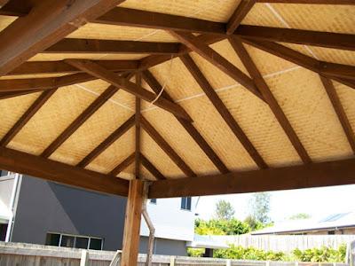 Desain Plafon Bambu Rumah Modern