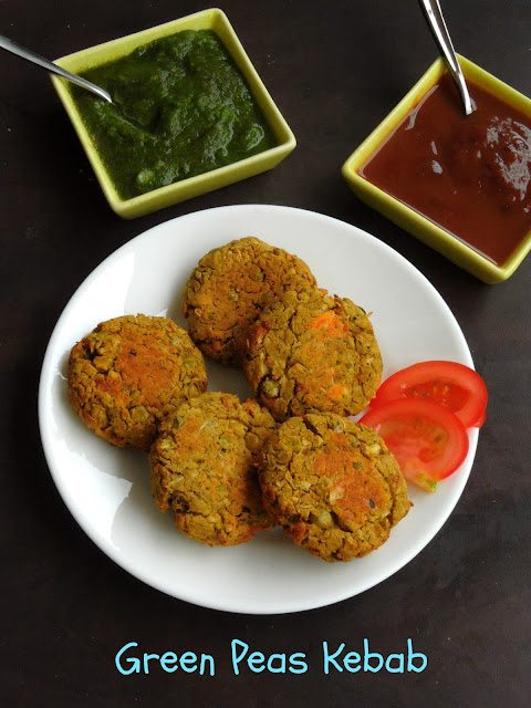 Dry Greenpeas Cutlet, Greenpeas Kebab