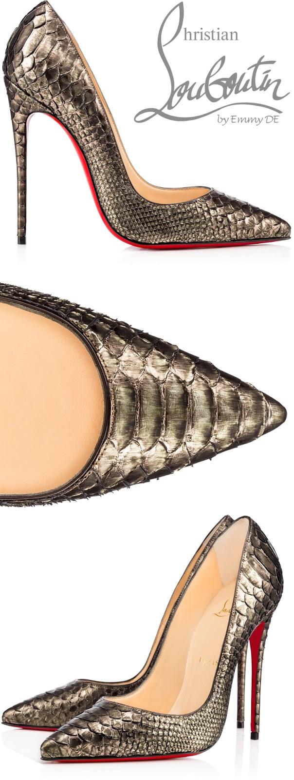 Brilliant Luxury ♦ Christian Louboutin So Kate Python Cuirasse Pumps
