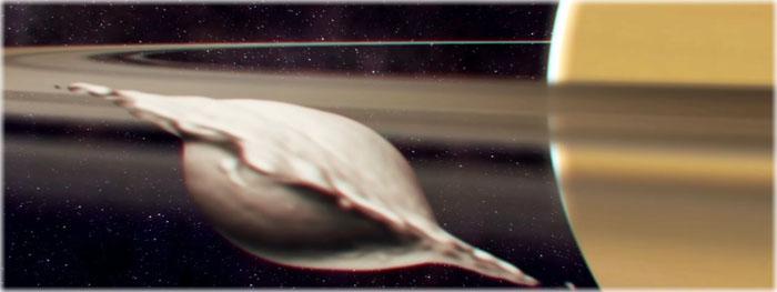 porque as luas de Saturno tem formas bizarras