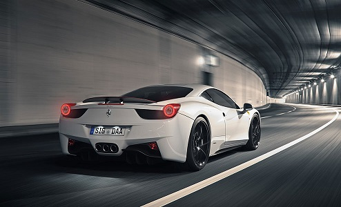 White Super Car