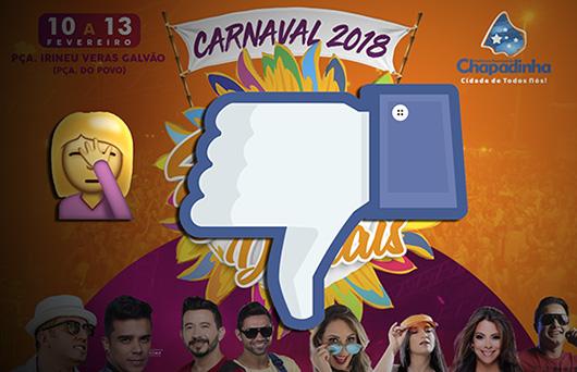 Carnaval 2018 em Chapadinha (MA) tem tudo pra ser ruim