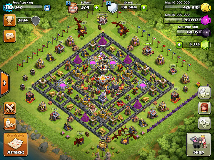 Clash Of Clans Village Level 110 FreeAppsKing