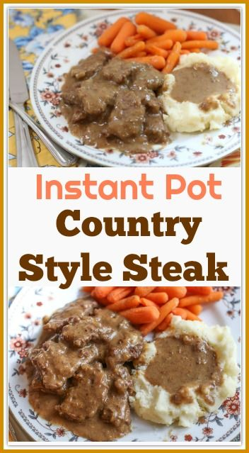 Country Style Instant Pot Cube Steak Recipe