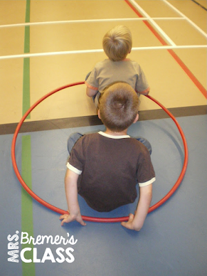 Hula Hoop Car Road Trip- a great PE activity!