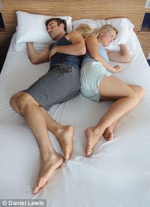The Cherish – Couple sleeps back to back but touching