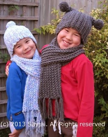 ca0a63a083cb MODELES GRATUITS-Bonnet, écharpe et Snood Crochet 4 Tailles