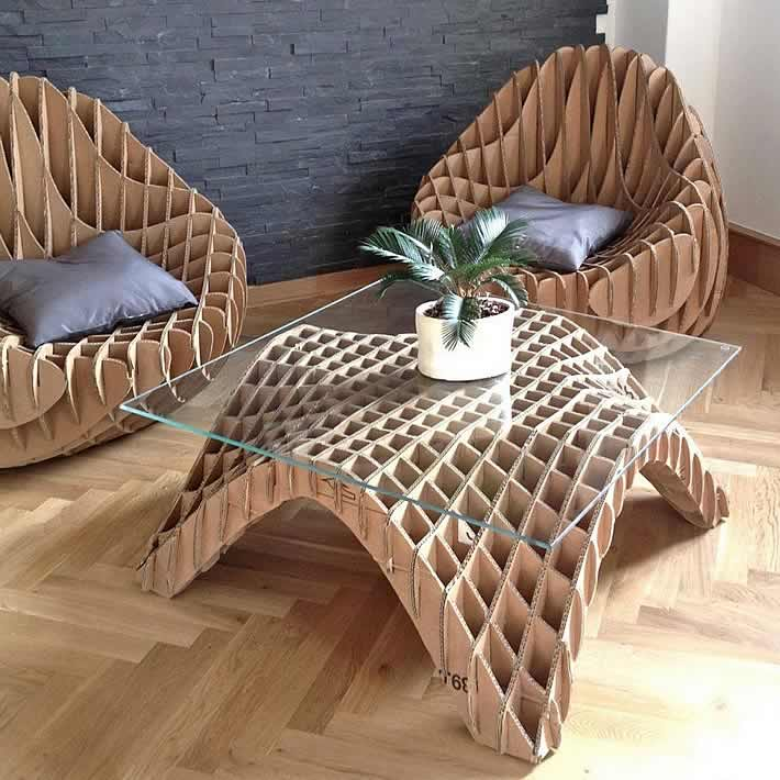 How to recycle recycled cardboard furniture for New chair design