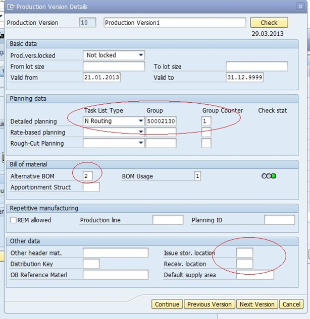 Implement SAP: Production version in MRP4