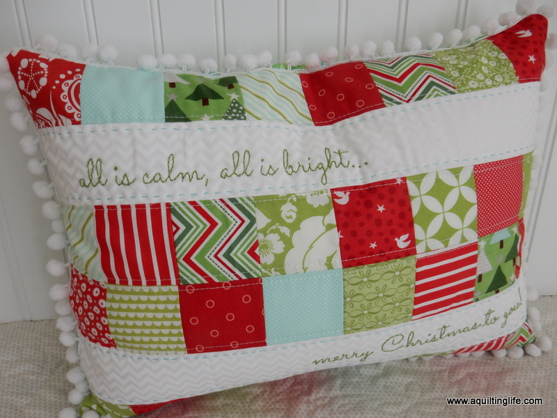 Quilted Christmas Pillows A Quilting Life - a quilt blog
