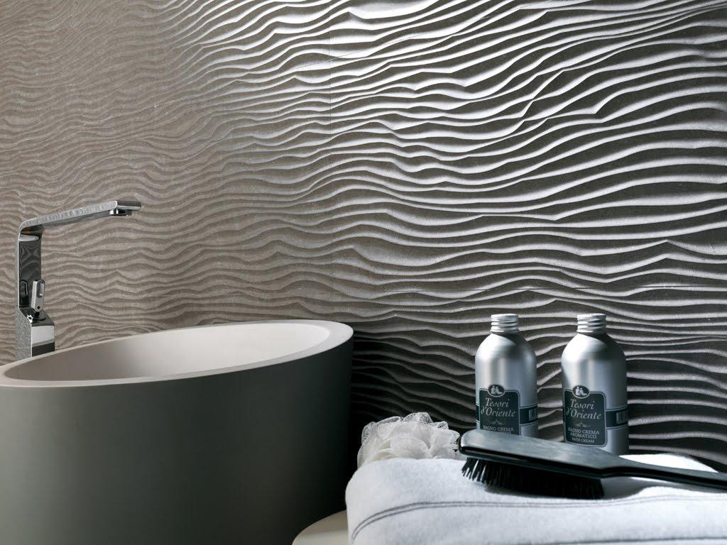 płytki strukturalne, łazienka, struktura na ścianie