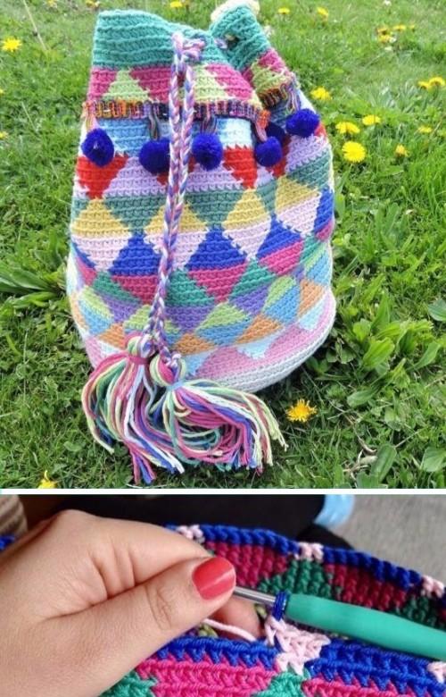 Tapestry Crochet Wayuu Bag - Free Pattern