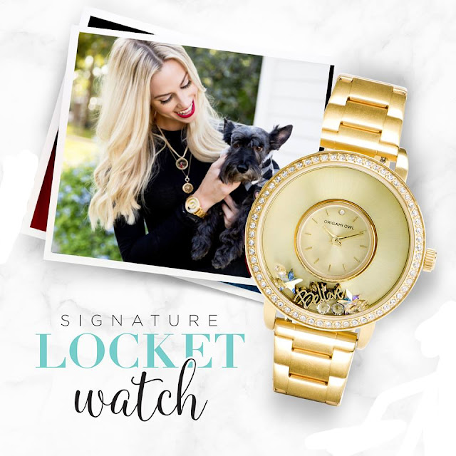 Origami Owl Signature Locket Watch in Gold or Silver available at StoriedCharms.com